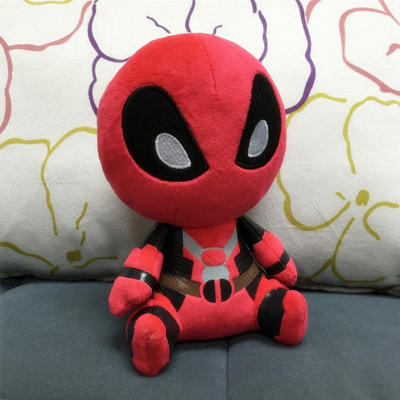 Marvel soft 2016 Deadpool movie FUNKO POP Deadpool Spiderman Plush Doll Toy Figure 20 CM toys for children kid toy hot toy(China (Mainland))