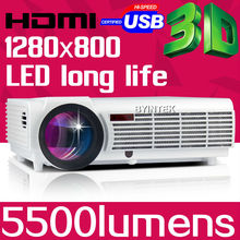 Big Discount BT96 5500lumens Video HDMI USB TV 1280x800 Full HD 1080P Home Theater 3D LED projector Projetor proyector beamer(China (Mainland))