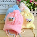 Baby Rabbit Caps for Toddler Girls Boys Crochet Earflap Beanie Hat Baby Kids Warm Soft Cap INS Newborn Props for Photo 21