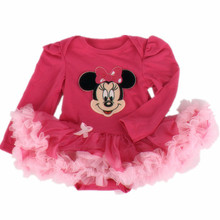 Infant Baby girl clothes Cotton Cartoon Long sleeve Jumpsuit Romper Tutu dresses/Newborn Bebes Baby girl dress/vestido infantil(China (Mainland))