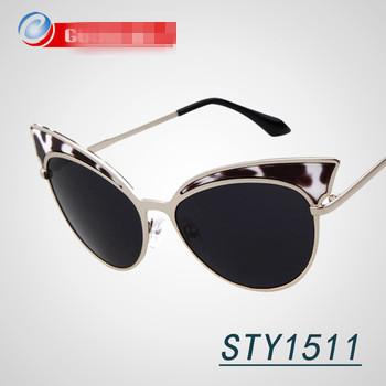 GuoXuan Brand Very Wonderful Cat Eye Sunglasses 2015 New Arrival Vintage Luxury Sun Glasses for Women oculos de sol eyewear(China (Mainland))