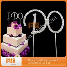 Buy Free (40 pieces/lot)i cake topper, 20pcs each, rhinestone cake topper wedding party for $85.00 in AliExpress store
