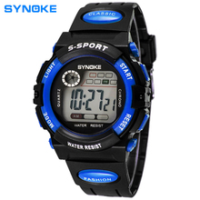 2015 New Arrival Multi-Function 30m Waterproof Children Wristwatch Famous Brand SYNOKE Outdoor Activity Digital Students Watches
