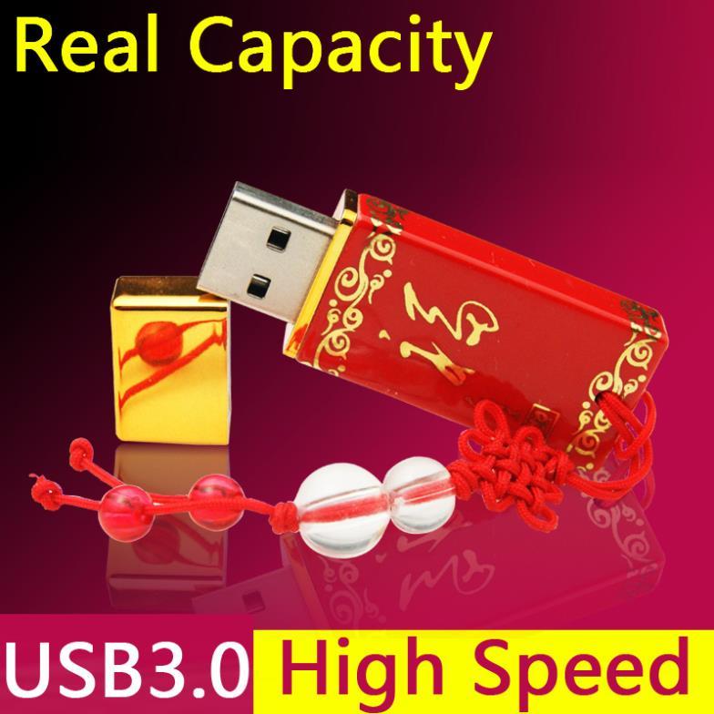 Red Ceramics Ceramic China Style Shaped Usb Beautiful Flash Drives 8gb 16gb 32GB 64GB Usb 3.0 Flash Memory Drive Gift Pendrive(China (Mainland))