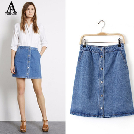 How to wear a short jean skirt – Fashion clothes in USA photo blog