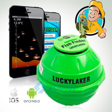 Wireless WIFI Sonar Fishing Finder 50M 130 Feet (45M) Deeper Fish Finder Lithium Battery IOS Android App Luckylaker FF916(China (Mainland))