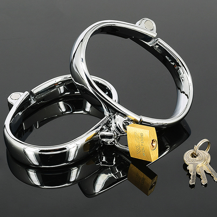 Dia 71*91mm,435g stainless steel male Ankle&amp;Wrist cuff metal hand cuff For men Sex Games couple sex game<br><br>Aliexpress