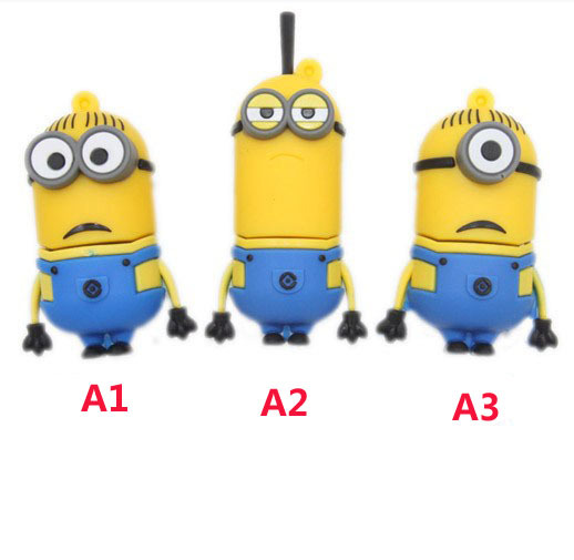 Hot sale Despicable Me 2 , Dave, Kevin, Stuart 4GB 8GB 16GB 32GB USB 2.0 Flash Memory Stick Drive Festival /Car/Gift D102(China (Mainland))