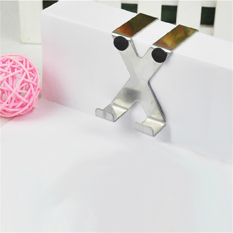 New High Quality X Shape Stainless Over Door Hooks Cabinet Clothes Pothook Hanger Decorative Pothook(China (Mainland))