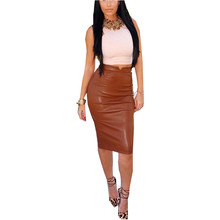 Buy Zanzea Fashion 2017 Women Soft PU Leather Skirt High Waist Slim Hip Pencil Skirts Vintage Bodycon Midi Skirt Sexy Clubwear Hot for $6.81 in AliExpress store