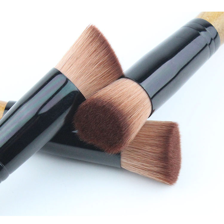 2016 Top Quality Makeup Brushes Cosmetic Makeup Tools Goat Hair 1pcs Portable Brush Foundation Powder Clear Face Brush Black D92(China (Mainland))