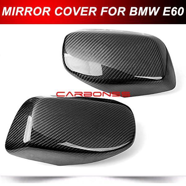CARBON FIBER SIDE MIRROR COVER CAPS OVERLAY FOR 2004-2008 BMW E60 E61 5 SERIES(China (Mainland))