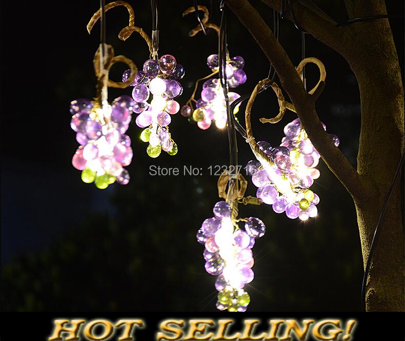 Grape String Party Lights : Grape Solar String Lighting led garden light decoration outdoor street lamps chandelier Hanging ...