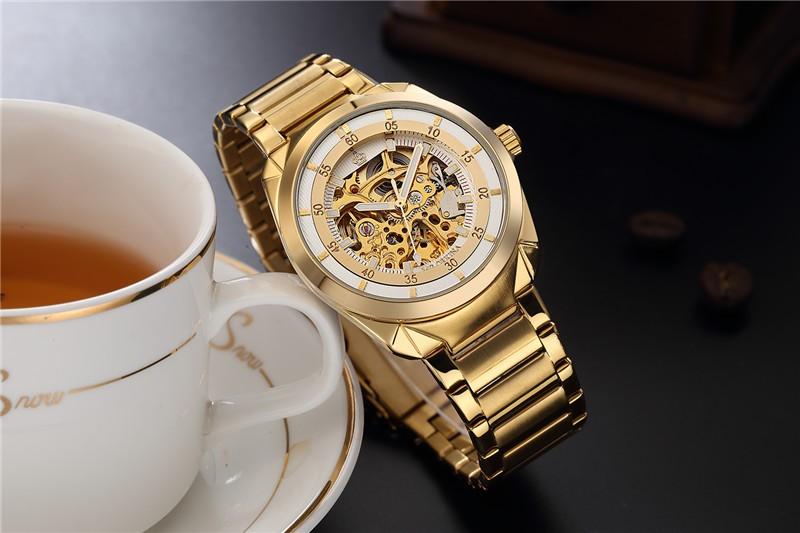 2016 продажа подлинная ORKINA полые киль из нержавеющей стали автоматические механические часы моды водонепроницаемый человек бренд класса люкс