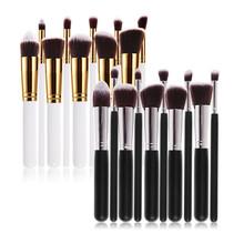 New 10Pcs Professional Cosmetic Makeup Tool Brush Brushes Set Foundation Contour Powder Eyeshadow Cosmetic Set(China (Mainland))