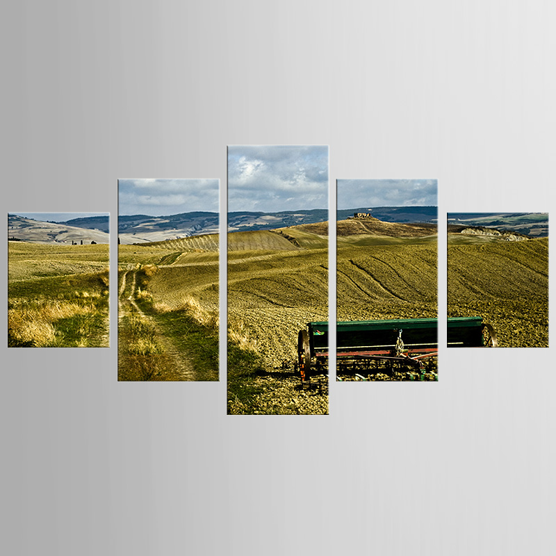 5 pieces framed Wall Art Picture Gift Home Decoration Canvas Print painting Harvest season scenery wholesale/NEW-QJFJ/1103(China (Mainland))