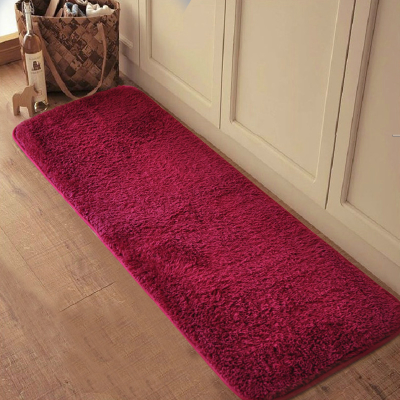 Silk plush carpets super soft machine washable mats for Soft carpet for bedrooms