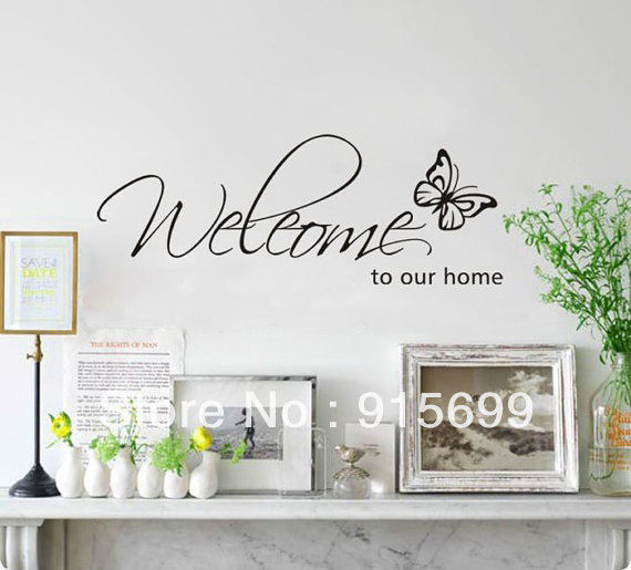 Buy Welcome To Our Home Wall Decal Vinyl