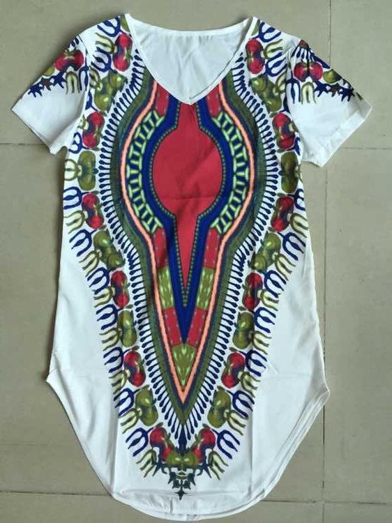 2016 Traditional African Clothing for Women mini Dress women Bazin Riche white Dashiki dress Plus Size loose vintage dress(China (Mainland))