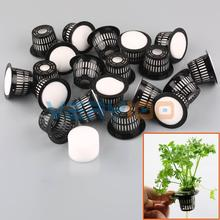 20 set dia.43mm mesh piatto net basket + clone collare inserto in schiuma idroponici aeroponic pianta(China (Mainland))