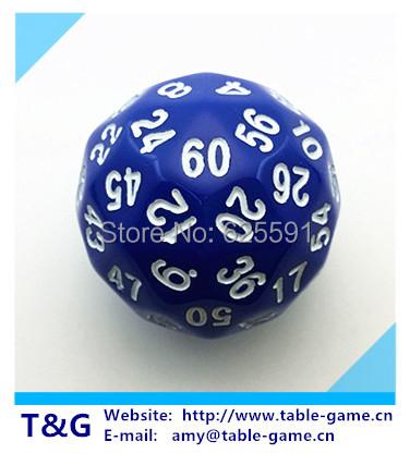 [해외]T & A, G 주사위 블루 (60) 양면 D60 롤 플레잉 주사위 ..