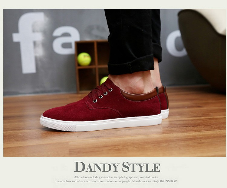 2016 New Arrival Wholesale Hot Sale Spring fashion suede Mens Shoes Mens canvas shoes leather Casual Breathable Shoes flats Free