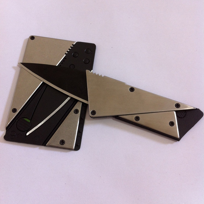 1 piece the 3rd version credit card knife ,steel cover folding safety knife, outdoor pocket wallet useful tool(China (Mainland))