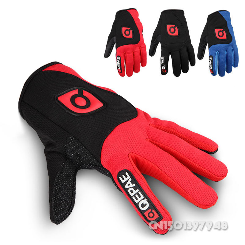Winter Windproof MTB Motorcycle Ciclismo Road Bike Racing Cycling Bicycle Full Finger Gloves Breath able Outdoor MTB9012  -  QIQI YUAN's store store