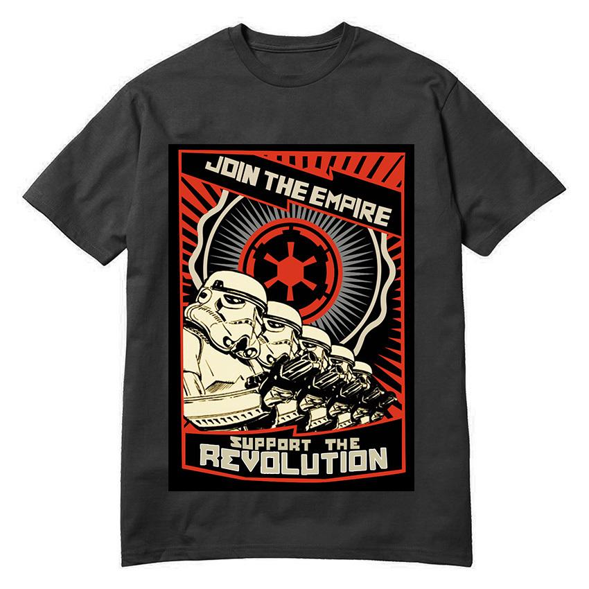 Fashion T Shirt Men Star Wars Revolution Camisa Masculina Shirts Round Neck Top Tees Short Sleeve Clothing(China (Mainland))