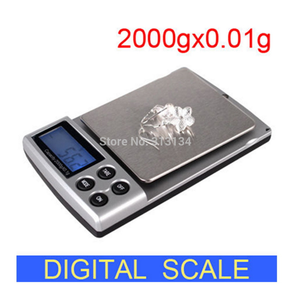 1pc 2000g x 0 1g New Portable LCD Display Mini Pocket Electronic Digital Jewelry Scales Weighing