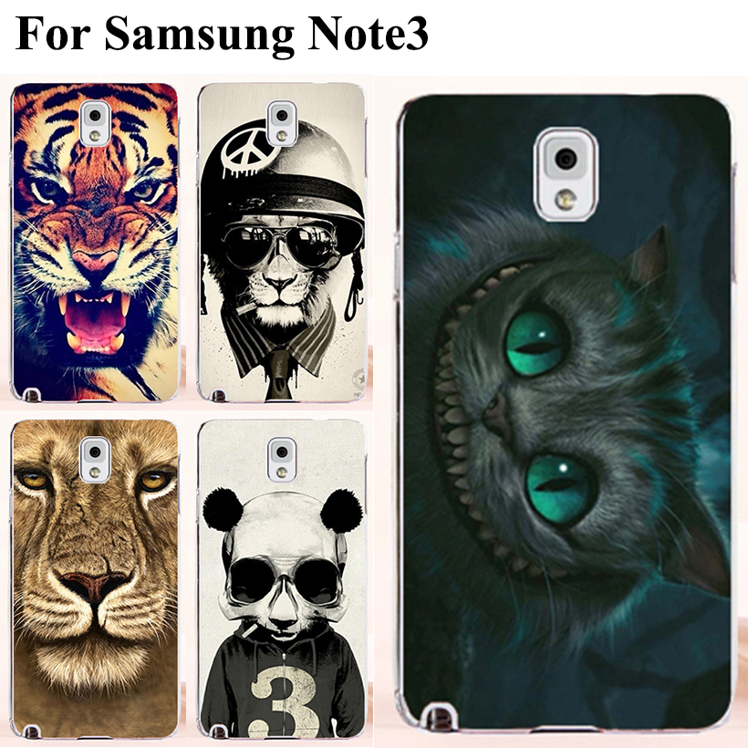 Freeshipping Animal Pattern Lion Tiger Dog Cat Owl Samsung Galaxy Note III 3 Note3 N9000 N9005 mobile phone cases cover - TAOYUNXI store