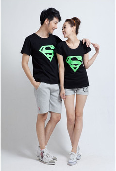 freeshipping! clearance sales, 2013 new summer Short-sleeved Superman logo glow T-shirt for men