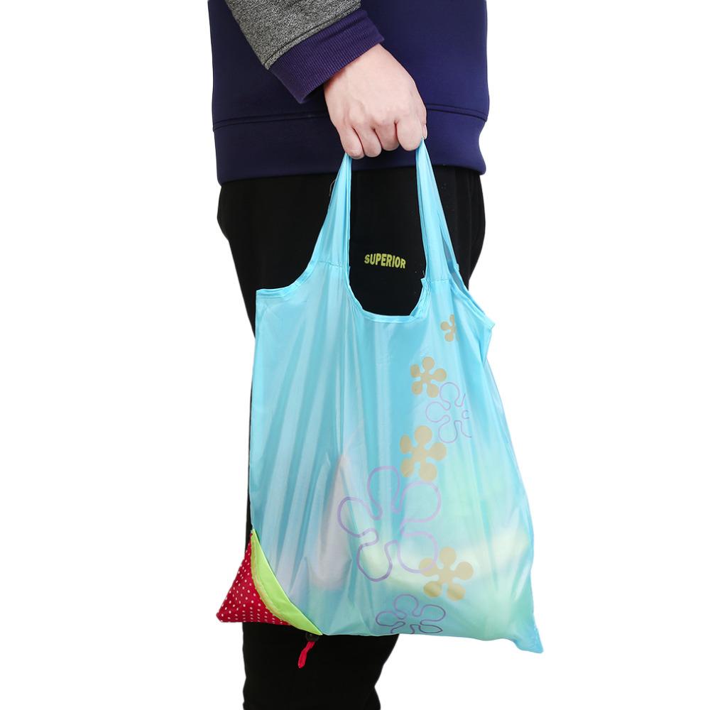 Eco Storage Handbag Strawberry Foldable Shopping Bags Beautiful Reusable BagHigh Quality 2016 Hot Sale(China (Mainland))