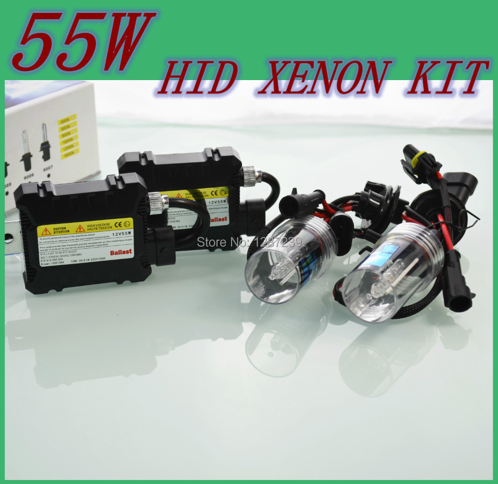 55W H1 Xenon HID Kit Car Headlight mini Ballast 55w H11 h4-2 H7 H9 H1 9006 Bulb 4300K 6000K 8000K 10000K 12000K 12V(China (Mainland))