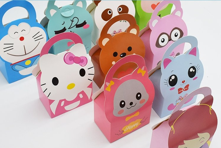 Cute little animal biscuit baking food nougat tin box mousse cake box 10pcs wholesale(China (Mainland))