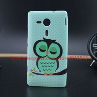 For Sony Xperia SP M35H Case Cover Fashion Sleep Owl Design Soft Cell Phone Cases For Sony SP M35H C5303 C5302 C5306