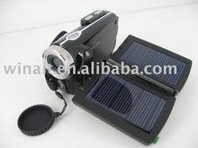 Free shipping+Double Solar charger Digital camera 1Pcs/lot(China (Mainland))