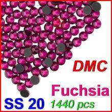 SS20 4.6-4.8mm,1440pcs/Bag Fuchsia DMC Hot Fix Flat Back Rhinestones,DIY Hot Fix iron-on garment heat transfer crystal stone(China (Mainland))