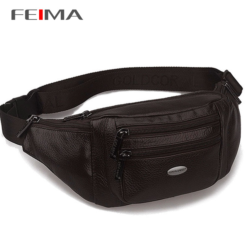 New High Quality Men Genuine Leather Waist Packs Outdoor Sports Belt Bag Portable ultra-large capacity men and women waist bag<br><br>Aliexpress