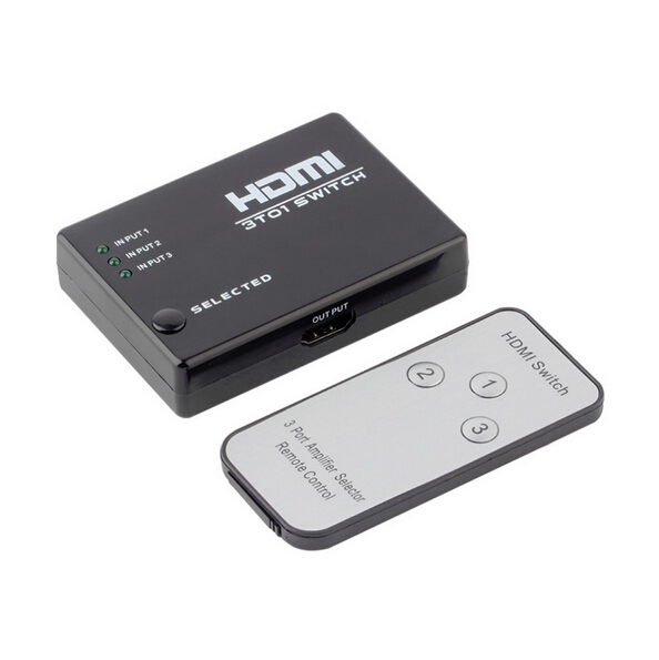 2016 New Hot Sale 3 Port 1080P Video HDMI Switch Switcher Splitter for HDTV PS3 DVD IR Remote High Quality(China (Mainland))
