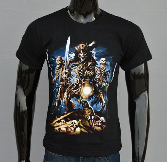 2015 Summer Skull Element Top Men's T-shirt Fighting Skulls Tee Casual Tops Men 3D Tshirts Mens T Shirt Black T-shirt G106-56(China (Mainland))