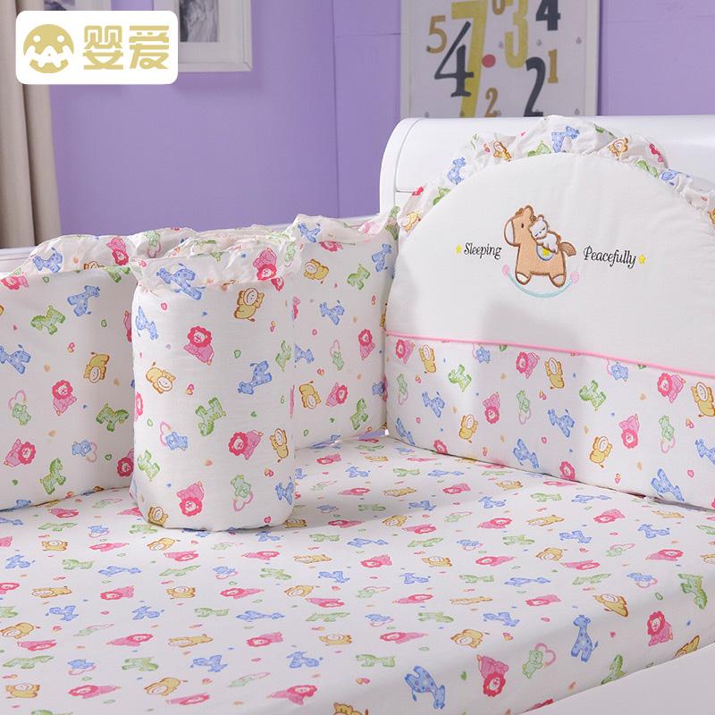 Детское постельное белье комплект хлопок 100% 7 шт.