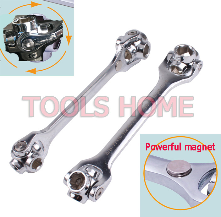 Free shipping!!8-in-1 Universal bull wrench,Multi-wrenches,Dog bones metric / inch hex socket tool<br><br>Aliexpress
