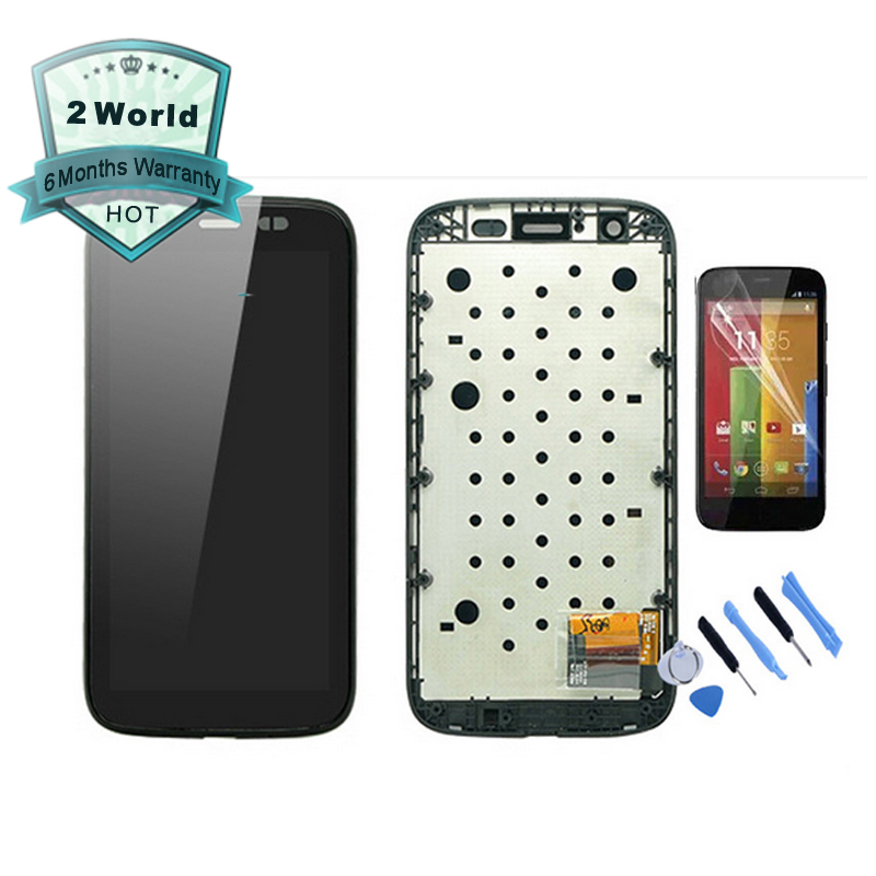 For Motorola MOTO G XT1032 / XT1033 LCD Display touch Screen with Digitizer with Bezel Frame Assembly+ tools + Protector
