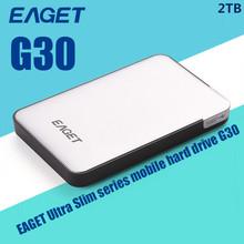 USB 3.0 External Hard Drive EAGET G30-500GB/1TB/2TB Portable HDD Case Ultra Fast High Hard Disk Speed Ultra Slim Free Shipping(China (Mainland))