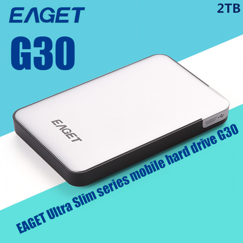 USB 3.0 External Hard Drive EAGET G30-500GB/1TB/2TB Portable HDD Case Ultra Fast High Hard Disk Speed Ultra Slim Free Shipping(China (Mainland))