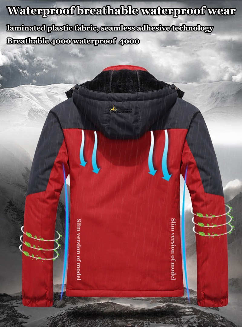 Скидки на Новый зимнее пальто куртки мужчины/женщины водонепроницаемый ветрозащитный куртка Мужчины Плюс толстый бархат теплый повседневная пальто куртка размер 4XL5XL6XL7XL