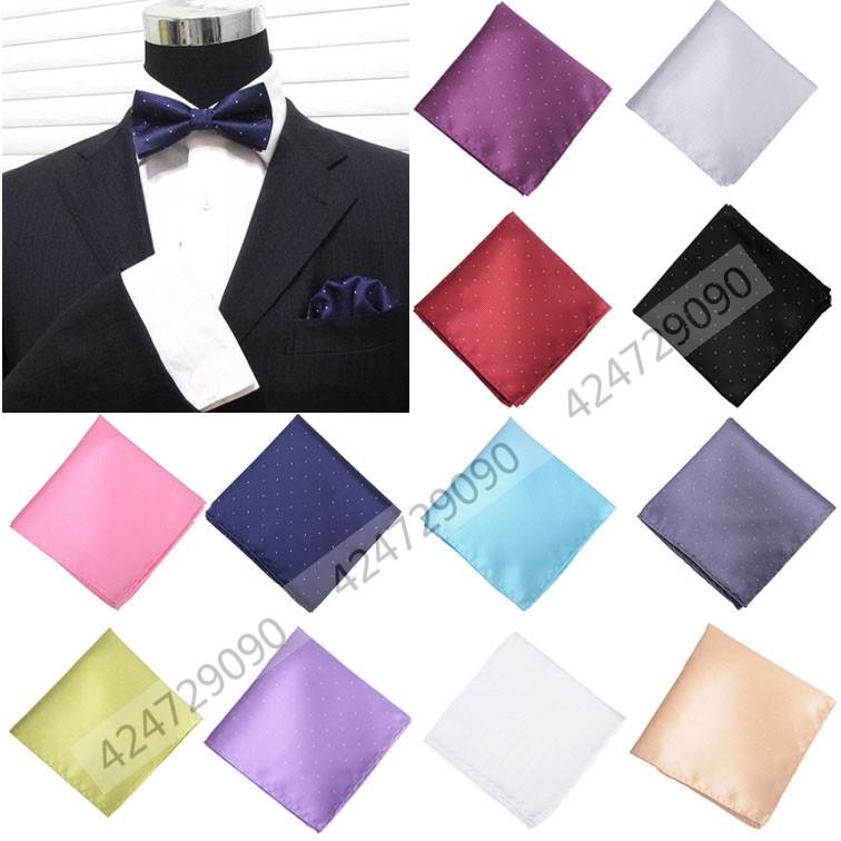 Fashion Solid Color Wedding Party Men Hanky Pocket Square Handkerchief Polka Dot Luxury Hand Towel JA0001c Free Shipping(China (Mainland))