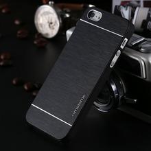 4 4S ห้องดีลักซ์อลูมิเนียมโลหะแปรงกรณีสำหรับiphone 4 4S โทรศัพท์มือถือปกหลังMotomoโลโก้สำหรับ Iphone4 YXF03883
