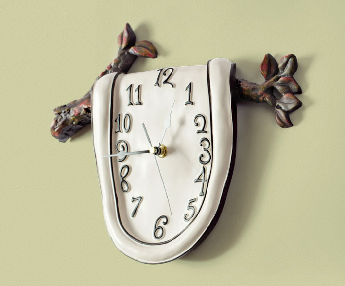 2015 New Wall Art Resin Home Clock Persistence Memory Kitchen Digital Clocks Modern Design - JC & Garden store